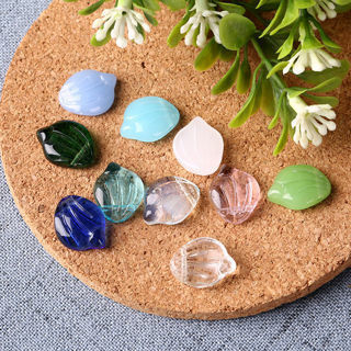 20Pcs For Jewelry Findings DIY Glass Cherry Petals Pendant