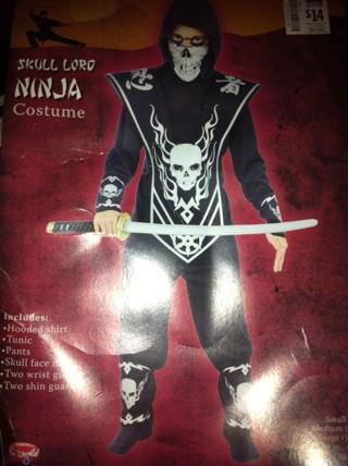 ***>>>LQQK>>>BRAND NEW Kid's Skull Lord Ninja Halloween Costume!***FREE SHIPPING!