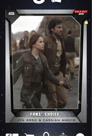 star wars topps digital trading cards sold out card