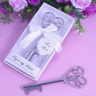 """Key To My Heart"" Design Hot Favor Wedding Gift Party Boxed Bottle Opener"
