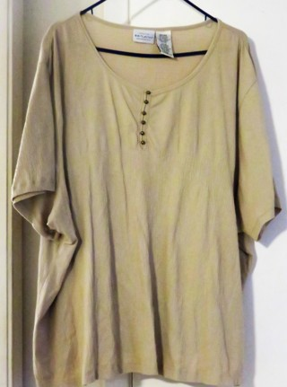 What Stag Womans Plus sixe 26/28 Beige cotten Knit top