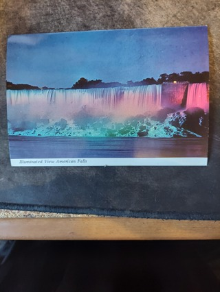 Illuminated View Of American Falls Postcard