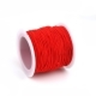 About 3 Ft. Red Polyester Elastic Beading Cord - .8mm