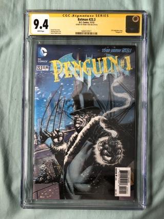2013 Batman #23.3 CGC Frank Tieri Auto Signature Series Grade 9.4 Comic