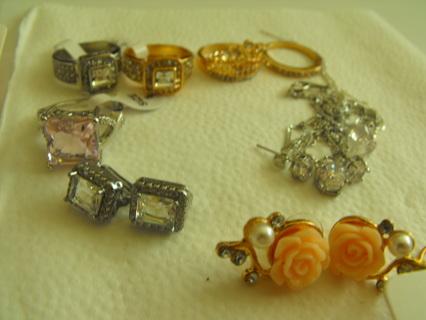 Massive piece lot of fashion cut crystal jewelry & Gemstone + Gold