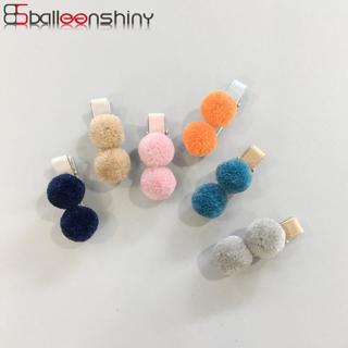 BalleenShiny Cute Fur Ball Hair Clips For Baby Girls 1PC Children Headdress Gift Hairpin Fashion S