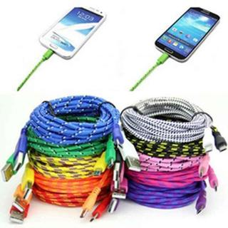 Micro USB ,1M Braided Fabric Micro USB Data&Sync Charger Cable Cord for Samsung Phone