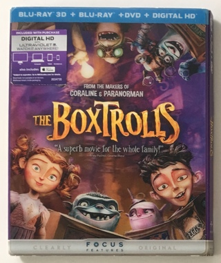 The Boxtrolls Blu-Ray 3D + Blu-Ray + DVD + Digital HD Movie - Brand New Factory Sealed!