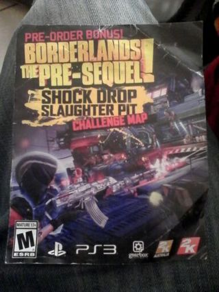 Sony PS3 dlc code for Borderlands The Pre-Sequel