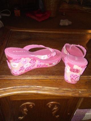 Rampage brand slip sandals womens size 8