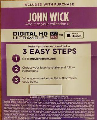 John Wick Digital Copy