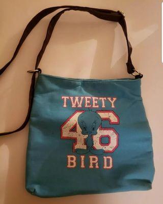 Blue tweety bird shoulder bag #D