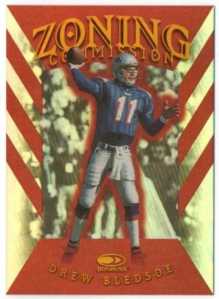 1997 Donruss Zoning Commission 2924/5000 - Drew Bledsoe - Patriots