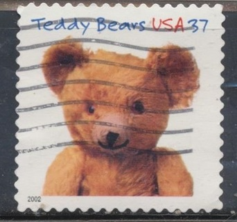 United States:  2008, (3) Teddy Bear Centennial Stamps, Scott #'s 3654-3656 - US-5322a,