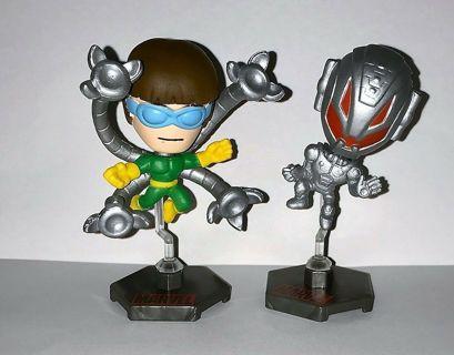 STOCKING STUFFERS! 2 new Mini MARVEL BOBBLEHEADS! ULTRON & DOC OCTOPUS - series 1 Villains!