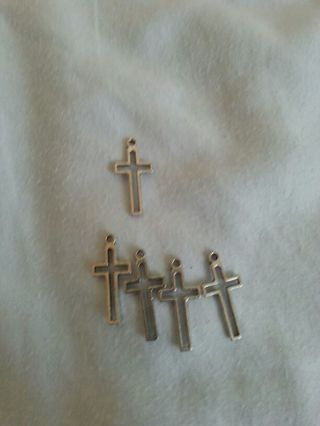 Lot of 5 Cross Charms