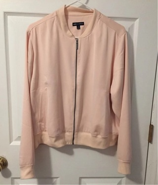 Plus Size Lane Bryant blush colored thin Bomber Jacket
