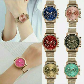 Fashion Men's Business Stainless Steel Band Analog Quartz Wrist Watch Watches