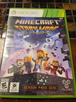Xbox 360 Minecraft story mode flawless disc