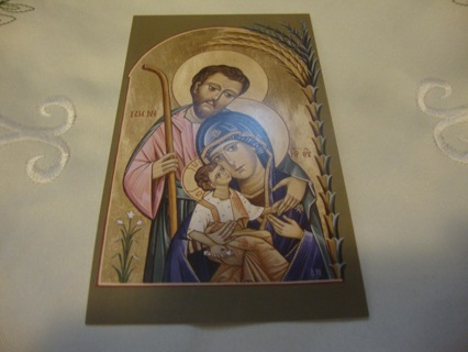 Religious Icon Picture Prayer Card of Holy Family ~ Free Shipping