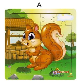 Babys Wooden Puzzle Jigsaw Toddler Early Learning Educational Toy Cartoon Animal
