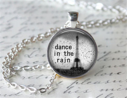 ~DANCE IN THE RAIN NECKLACE~CABOCHON STYLE~BONUS EARRINGS and NECKLACE~ NEW~ GIFT WRAPPED!~