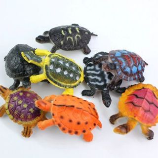 [GIN FOR FREE SHIPPING] 8Pcs Plastic Figurines Animal Model Tortoise Wild Marine