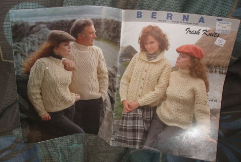 Free Irish Knits Bernat Pattern Book Knitting Listia