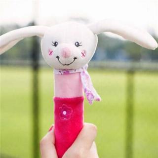 Soft Cute Animal Handbells Plush Squeeze Rattle Newborn Baby Toy Kids Gift S