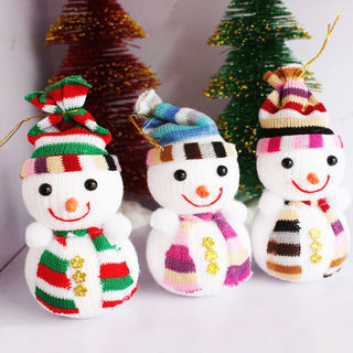 [GIN FOR FREE SHIPPING] 5Pcs Christmas Snowman Ornaments Tree Hanging Decor Home