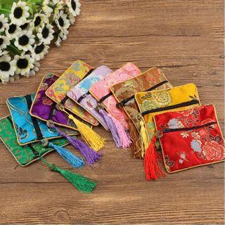 Packaging Quartet Zipper Fabric Brocade Handbags Wallet Jewelery Bag Tips Bag