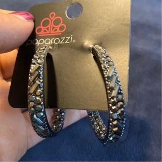 #2 Paparazzi Hoop earrings with gems