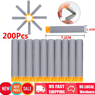 200PCS Refill Bullet Darts For Nerf N-strike Elite Series Blasters Toy Gun Gray