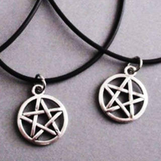 2-PACK PENTAGRAM STAR PENTACLE PENDANT NECKLACE FREE SHIPPING