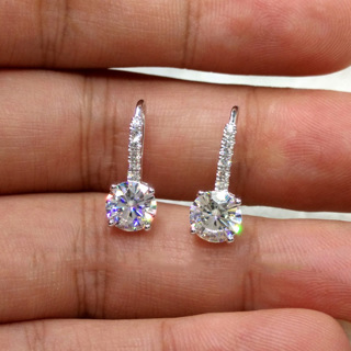 [GIN FOR FREE SHIPPING] Simple Dazzling CZ Crystal Circle Round Stud Earrings