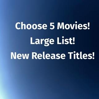 Choose 5 Movies • IW digital copy • Huge List!