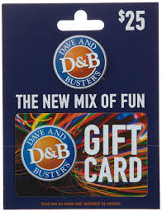 Dave And Busters Giftcard $25