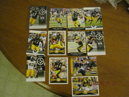 12 CARD STEELERS LOT*MIKE WALLACE*TROY*