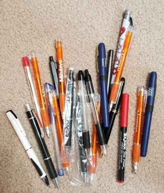 21 Assorted Ink Pens and Mechanical Pencils