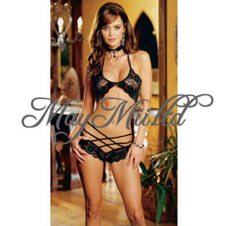 88021e5b9 BRAND NEW black LACE Lingerie Outfit - Sexy Bedroom wear - Bra   Panties  Included