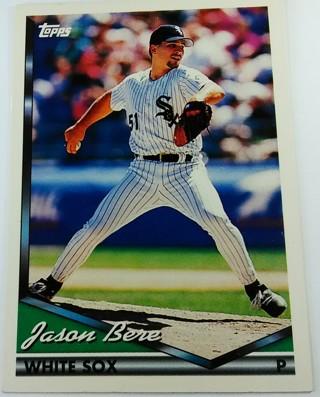 JASON BERE 1994 BASEBALL CARD