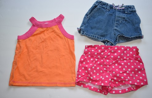 Baby Girls Summer Clothes Size 12-18 Months