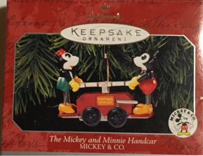 Hallmark/ The Mickey and Minnie Handcar- Mickey & CO