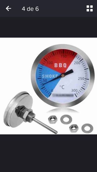 Mini BBQ Grill Stainless Steel Thermometer