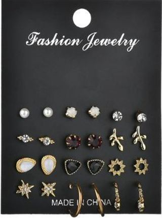 New Style Symbol Stud Earrings Set for Women Gift E2857