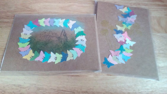 2 Handmade Cards with Envelopes: New