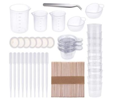 Silicone Measuring Cups for Resin, Anezus 140Pcs Silicone Mixing Cups Resin Tools Set