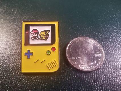 Custom Gameboy Ash & Pikachu Enamel Pokemon Pin