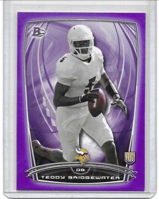 Teddy Bridgewater 2014 Bowman Purple #37
