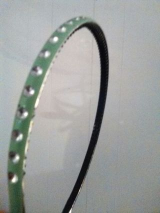 Green headband with rhinestones, for a little girl